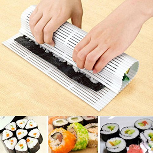 DIY Non-Stick PlasticSushi Rolling Mat Sushi Molds Kitchen Cooking Utensil Tools Set, Kitchen Tips Baking DIY Accessory- Lovely and Cute Design, -