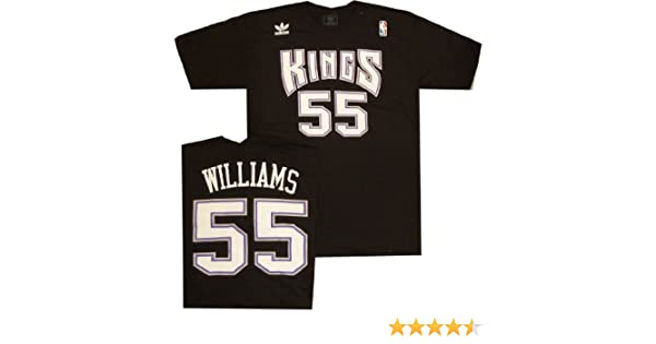 Amazon.com : Sacramento Kings Jason Williams Adidas Throwback Vintage T Shirt : Sports & Outdoors