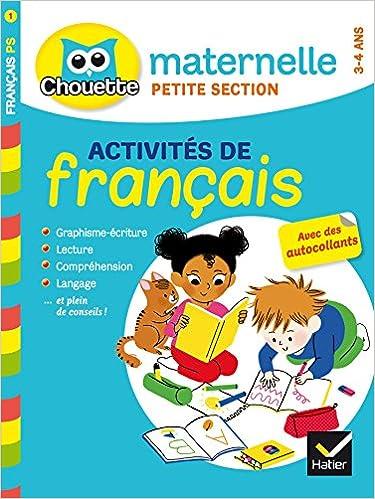 Chouette Maternelle Francais Petite Section 3 4 Ans Amazon