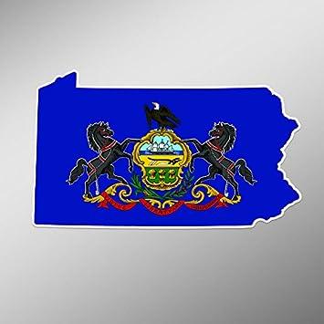 Pennsylvania USA State Flag Heart Icon Car Bumper Sticker Decal  /'/'SIZES/'/'