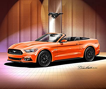Orange 2015 Mustang >> Amazon Com 2015 Ford Mustang Gt Convertible Competition Orange