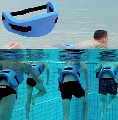Verisa aqua joqqing belt for aquatic aerobic low impact exercises blue foam swim flotation for Flotation belt swimming pool exercise equipment