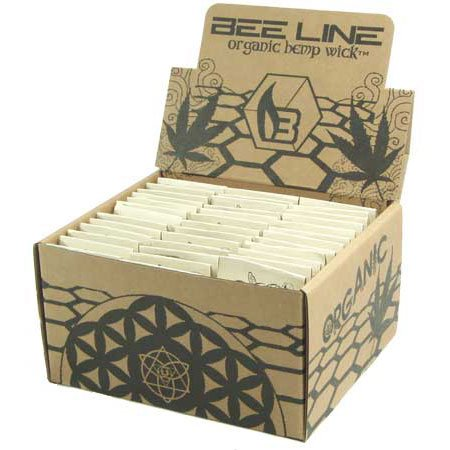 Beeline Organic Hemp Wick Display Box - 78 Packs by Bee Line