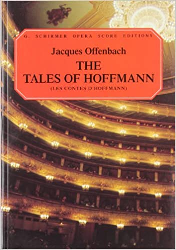 tales of hoffman vocal score paper french english les contes g schirmer opera score editions