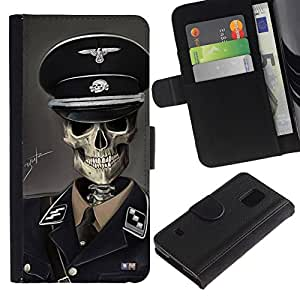 All Phone Most Case / Oferta Especial Cáscara Funda de cuero Monedero Cubierta de proteccion Caso / Wallet Case for Samsung Galaxy S5 V SM-G900 // SS Soldier