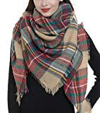 Plaid Blanket Scarf Women Big Square Long Scarves Warm Tartan Checked Shaw