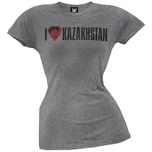 Funny Borat T-shirt (Borat - I Heart Kazakhstan Juniors T-Shirt - Medium)
