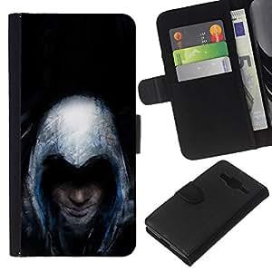 NEECELL GIFT forCITY // Billetera de cuero Caso Cubierta de protección Carcasa / Leather Wallet Case for Samsung Galaxy Core Prime // Asesinos Grunge