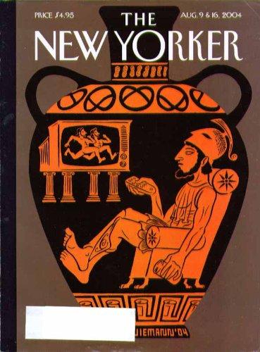 New Yorker cover Christoph Niemann Greek vase figure watches TV 8/9 & 8/16 - Figure Vase