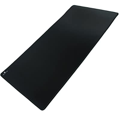 "Reflex Lab Large Extended Gaming Mouse Pad Mat XXL, Stitched Edges, Waterproof, Ultra Thick 5mm, Wide & Long Mousepad 36""x12""x.20"