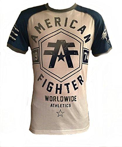 Fighter Chuck Cage (American Fighter Mens Raglan T Shirt (Medium, White))
