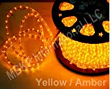 YELLOW 12 Volts DC LED Rope Lights Auto Lighting 15 Meters(49.2 Feet)