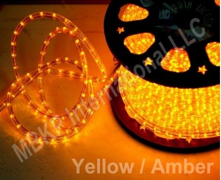 Amazon yellow 12 volts dc led rope lights auto lighting 15 yellow 12 volts dc led rope lights auto lighting 15 meters492 feet aloadofball Choice Image