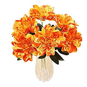Miaomiaogo 6 Head Dahlia Artificial Flowers Fake Floral Wedding Bouquet Glorious Decal Home Decoration 103