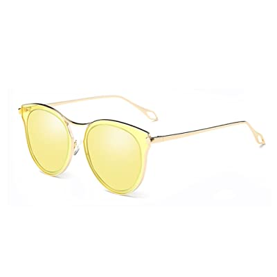 Aiweijia Fashion Polarized Lunettes de soleil UV Mirrored Lens Oversize Metal Frame