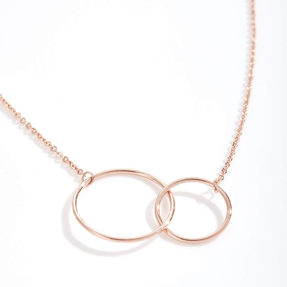 Amazon.com: Dear Ava Collar Regalo de Navidad y Reyes: para Mujer, Hija, Tia, Prima, Niña, Amiga, 2 Interlocking Circles (Gold-Plated-Brass, NA): Jewelry