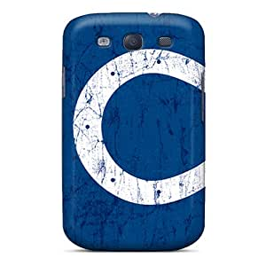 LifeLeader Galaxy S3 Hybrid Tpu Case Cover Silicon Bumper Indianapolis Colts