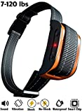 (US) [2018 SUPERHUMAN CHIP] Bark Collar with Smart Detection Module - Dual Stop Anti-Barking Mode: Beep & Shock for Small, Medium, Large Dogs - IPx7 Waterproof - No Barking Collar