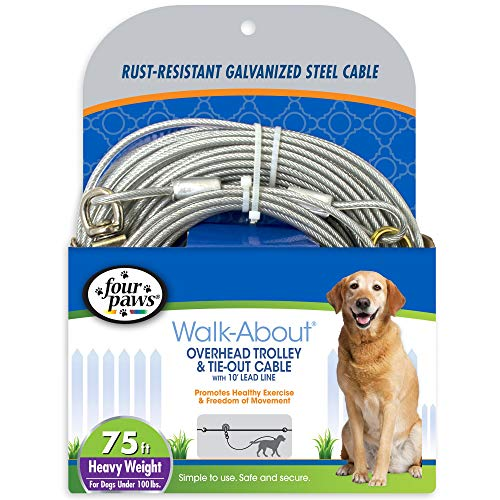 (Four Paws Heavy Weight Dog Run Cable, 75 ft)
