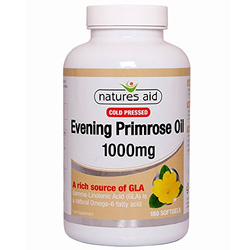 Natures Aid Evening Primrose Oil (Cold Pressed) 180 X 1000Mg - Aid Wellness Oil