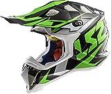 LS2 Helmets Unisex-Adult Off-Road-Helmet-Style MX (Nimble Green, Large)