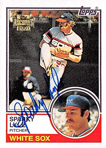 Sparky Lyle autographed baseball card (Chicago White Sox) 2001 Topps Archives #693