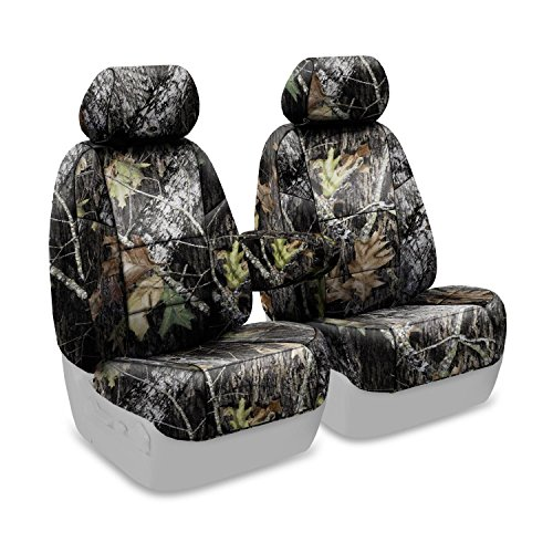 Coverking Custom Fit Front 50/50 Bucket Seat Cover for Select Lincoln Town Car Models - Neoprene (Mossy Oak Break Up Camo Solid) ()