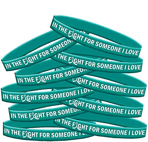 - in The Fight for Someone I Love Ovarian Cancer Batten Disease Interstitial Cystitis PKD Wristband Bracelet 10-Pack (Teal)