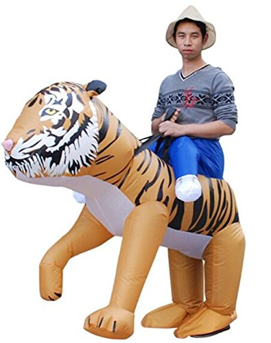 Self Made Halloween Costumes For Men (Luyeiand Novelties Men's Ride An Tiger Inflatable Costume)