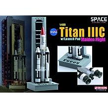 Titan IIIC on NASA Launch Pad (Maiden Flight) Diecast Model Spacecraft by Dragon Wings