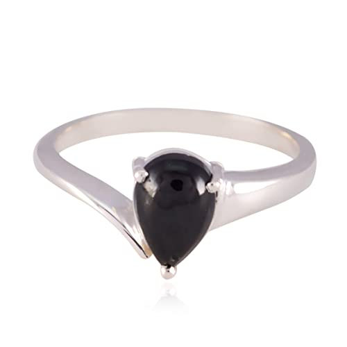 cdd77518fa64 ... anillos - plata esterlina negro ónix negro precioso anillo de piedras  preciosas - suministro de joyería artículos de venta fina -SP  Amazon.es   Joyería
