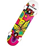 Punisher Skateboards Butterfly Jive Complete 31-Inch Skateboard with Canadian Maple