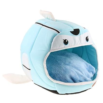 perfk Almohadilla Saco Sofá Cama Perro Accesorios Colocar Jaula Casa de Mascota Conveniente Cómodo - Azul
