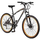 "Mongoose Mens Seek'r Bike 27.5"" Inch Mountain Trail Bicycle Heavy Duty Aluminum Frame"