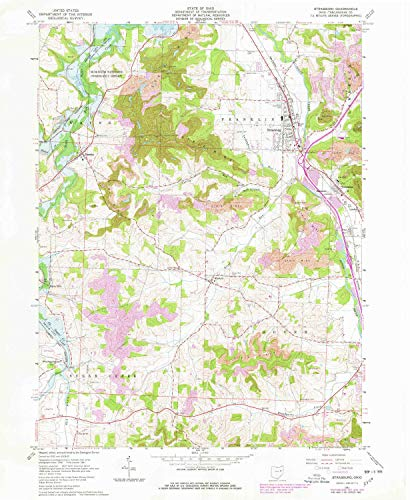 (YellowMaps Strasburg OH topo map, 1:24000 Scale, 7.5 X 7.5 Minute, Historical, 1961, Updated 1978, 26.9 x 22.1 in - Paper)