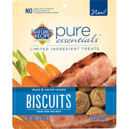 Nature's Recipe Pure Essentials Biscuits  - Duck & Carrot Recipe - 8 oz