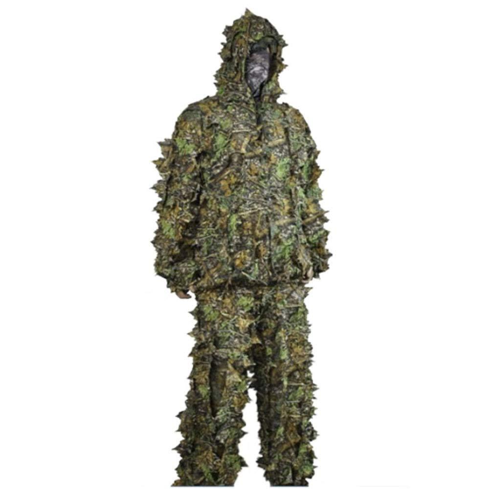 SEIGNEER 3Dde Camuflaje de Bosques Ropa Respirable TrajeMilitar Bionico Ropa y Pantalones para