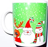 Christmas Mug for Hot Drinks Santa Claus, Snowman, Reindeer Great For Coffee, Hot Chocolate, Milk