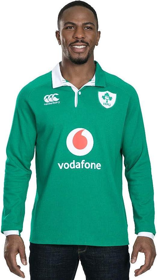 2X-Large Canterbury of New Zealand Mens Ireland 19//20 Vapodri Home Sleeve Classic Rugby Jersey Bosphorous