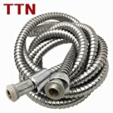 TTN Extra Long Stainless Steel Handheld Shower Hose 118Inches Bathroom Toilet Handheld Showerhead Sprayer Extension Replacement Part 9.8 Ft 3Meters