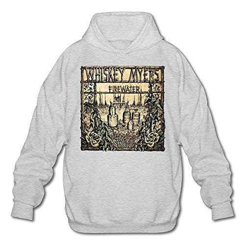 (WS1A2WOSG GIEDJOBB Firewater Whiskey Myers Men's Long Sleeves Hoodie Sweatshirt Ash Large -Fashion Ln 2018)