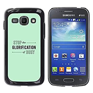 Stuss Case / Funda Carcasa protectora - Green Mint Color Calm Relax Yoga - Samsung Galaxy Ace 3 GT-S7270 GT-S7275 GT-S7272