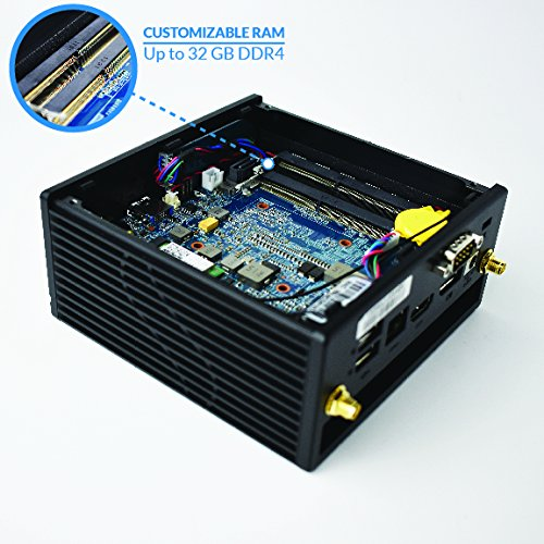 Azulle Inspire Mini PC Barebone System (Dual-Core Intel Kaby Lake i5-7200U) by AZULLE (Image #2)