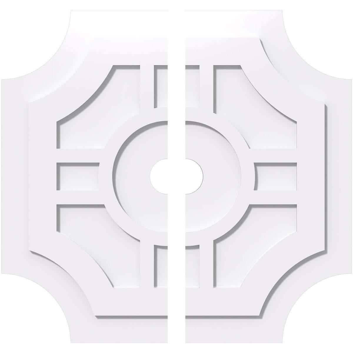 Ekena Millwork CMP28HS2-03000 Ceiling Medallion, 28''OD x 3''ID x 9 1/4''C x 1''P, White by Ekena Millwork