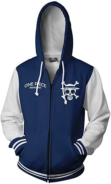 Lonimor Impresión 3D Sudaderas Hombre Unisex con Capucha Camisa para Impreso Arte Tops Chaqueta Abrigo Ropa Camiseta de Beisbol Cremallera One Piece ...