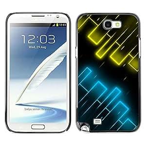 LECELL -- Funda protectora / Cubierta / Piel For Samsung Galaxy Note 2 N7100 -- Yellow & Blue --