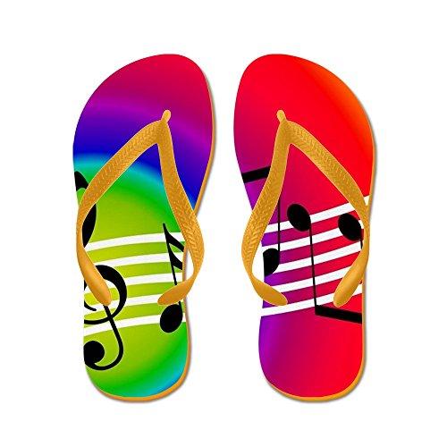 Musica Da Cafepress - Infradito, Sandali Infradito Divertenti, Sandali Da Spiaggia Arancione
