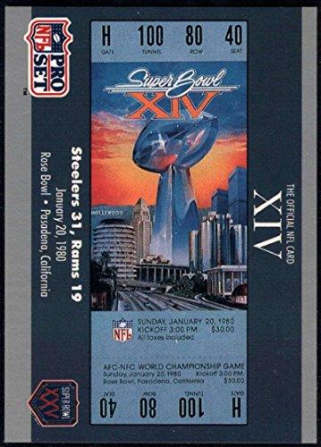 - Football NFL 1990-91 Pro Set Super Bowl 160 #14 SB XIV Ticket NM-MT
