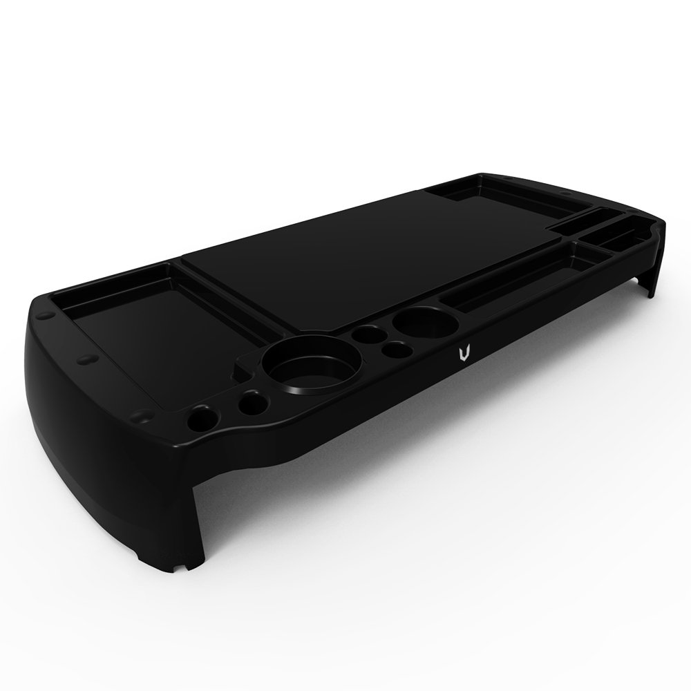 Eutuxia Type-C Plastic Monitor Stand, TV, Laptop, Computer, All-In-One Desktop, Printer Riser with Storage Slots. Good for Home, Office, Cubicle. Stay Organized & Save Space. [20.7 x 9 x 2.9 Inches]