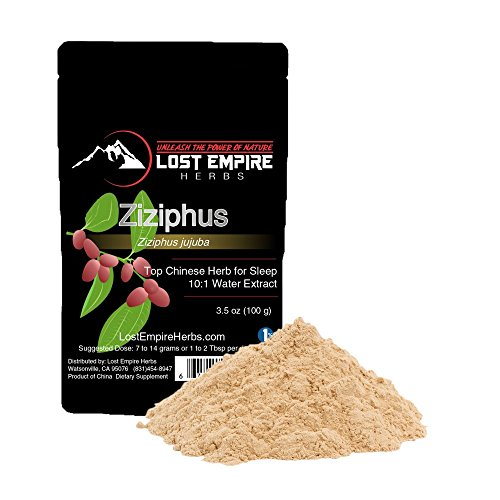 Ziziphus Herb Extract Powder 10:1 (100 Grams) Increases Amount of REM Sleep/Fights Symptoms of Altitude Sickness, High Antioxidant Content - Gluten Free/Paleo and Vegan Friendly